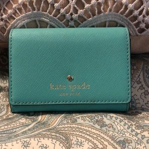 Kate Spade mint green mini wallet